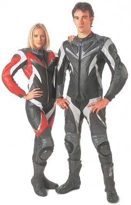 leather racingsuit